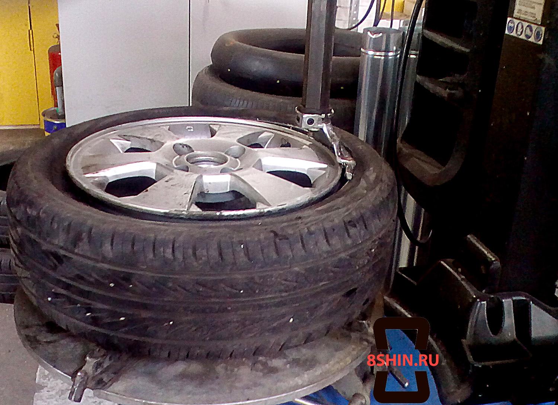 Отжим шины в шиномонтаже 8shin